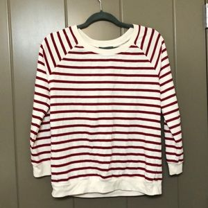 Red stripped sweater